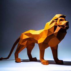 oroszlán papírszobor