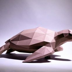 teknős papírszobor