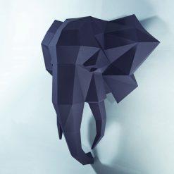 elefánt papírszobor