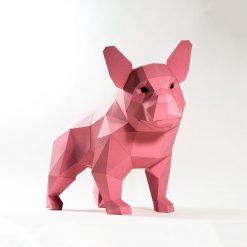 francia bulldog papírszobor