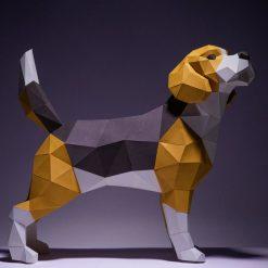 beagle papírszobor