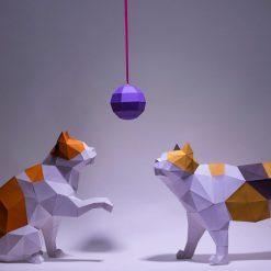 macska papírszobrok